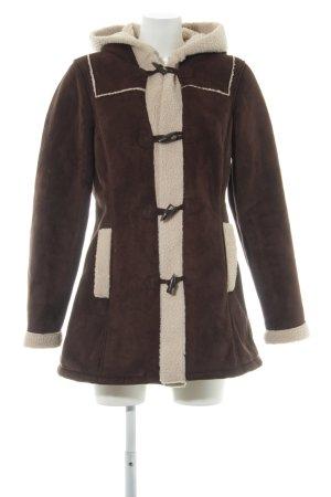 Vero Moda Duffle-coat brun foncé style décontracté