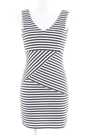 Vero Moda Etuikleid weiß-schwarz Streifenmuster Elegant