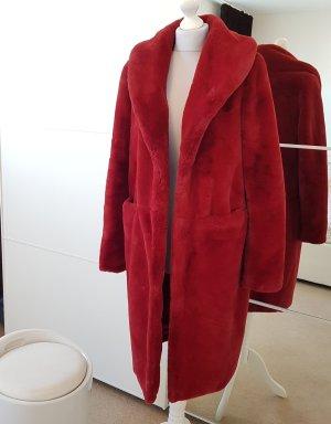 Vero Moda Gabardina tipo vestido rojo oscuro