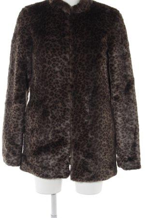 Vero Moda Felljacke graubraun-schwarz Leomuster extravaganter Stil