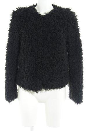 Vero Moda Giacca di pelliccia nero stile festa