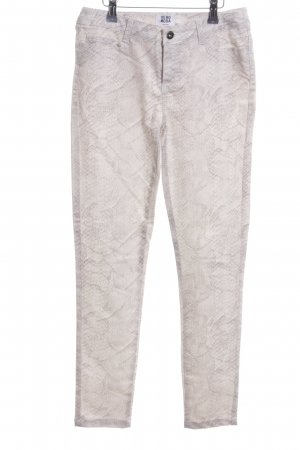 Vero Moda Five-Pocket Trousers white-light grey allover print business style