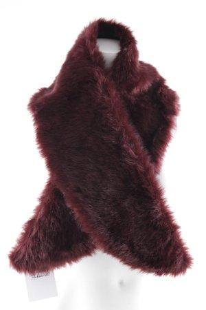 Vero Moda Bufanda de flecos burdeos elegante
