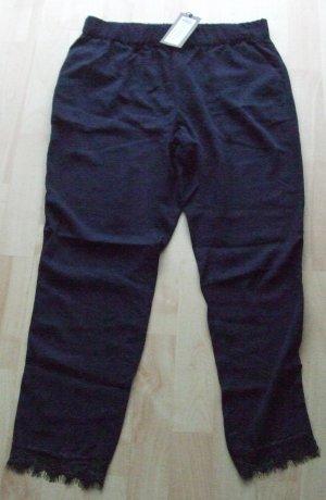 Vero Moda 7/8 Length Trousers dark blue viscose