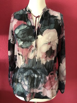 Vero Moda geblümtes Tunikashirt mit Taillenraffung