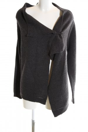 Vero Moda Coarse Knitted Jacket black-light grey cable stitch business style