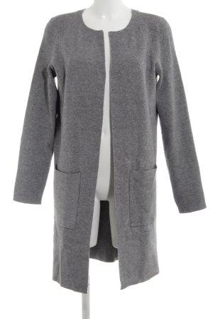 Vero Moda Crochet Cardigan light grey flecked business style