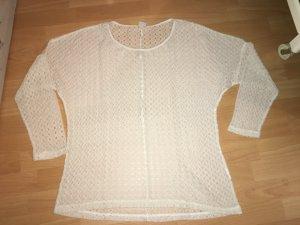 Vero Moda Häkel Shirt beige in Größe L
