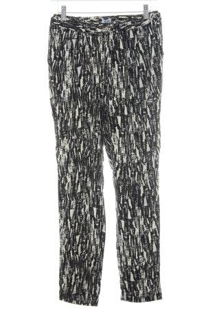 Vero Moda Pantalón estilo Harem negro-blanco puro look casual