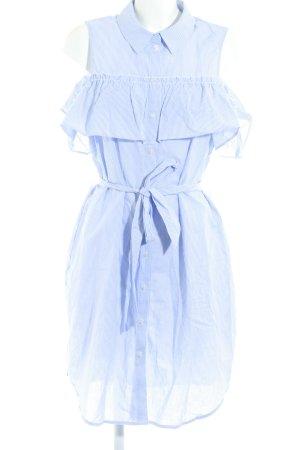 Vero Moda Hemdblusenkleid himmelblau-weiß Streifenmuster schlichter Stil