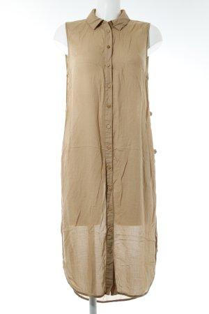 Vero Moda Hemdblusenkleid sandbraun Karomuster extravaganter Stil