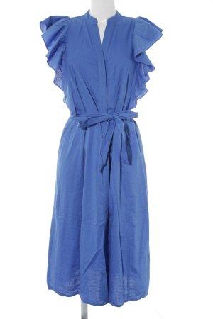 Vero Moda Hemdblusenkleid stahlblau Punktemuster Casual-Look