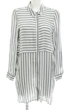 Vero Moda Abito blusa camicia bianco-grigio chiaro motivo a righe stile semplice