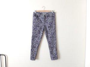 Vero Moda High Waist Jeans Gr. 30 40 paisley muster blau lila grün vintage look