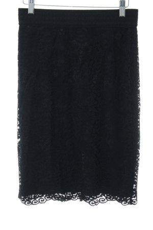 Vero Moda Falda de talle alto negro punto trenzado elegante