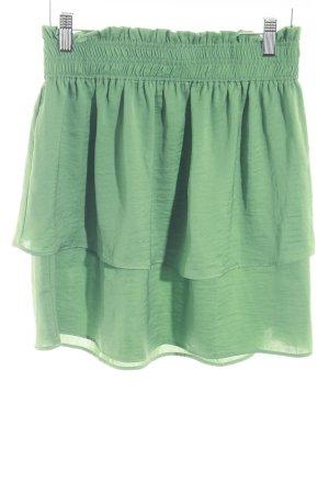 Vero Moda Jupe taille haute vert gazon style décontracté