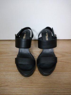 vero moda hohe sandalen 38 schwarz fashin blogger party
