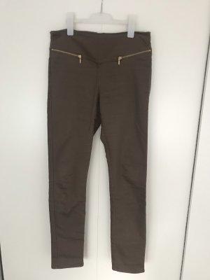 Vero Moda Pantalone a vita alta marrone chiaro