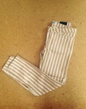 Vero Moda Hose Jeggings Röhre Slim fit Skinny Jeans Streifen Nude