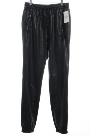 Vero Moda Hose schwarz Leder-Optik