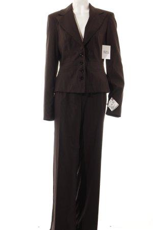 Vero Moda Tailleur pantalone marrone scuro-marrone gessato stile professionale