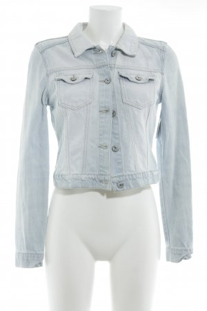Vero Moda in Blue Jeansjacke himmelblau Casual-Look