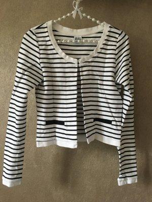 Vero Moda Jacke Cardigan Blazer Sweatblazer gestreift schwarz weiß Gr. S