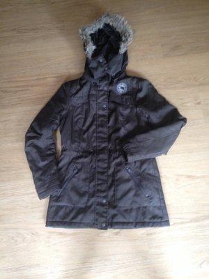 Vero Moda Jeans Mantel Winterjacke Wintermantel Braun S 36 Jacke Kapuze Fell