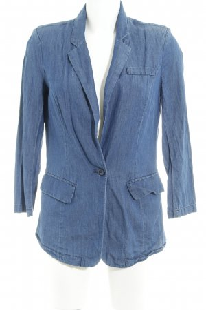 Vero Moda Denim Blazer steel blue jeans look