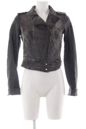Vero Moda Jeansjacke grau-schwarz sportlicher Stil