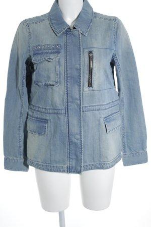 Vero Moda Jeansjacke hellblau-wollweiß Washed-Optik