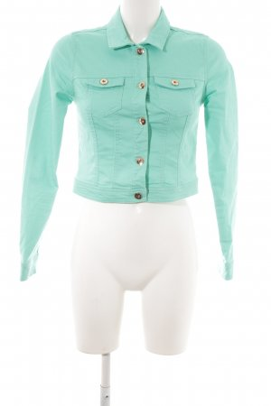 Vero Moda Jeansjacke mint-goldfarben Casual-Look