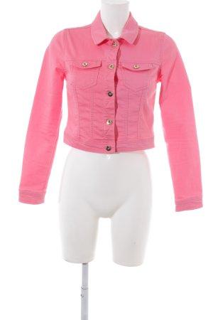Vero Moda Jeansjacke neonpink Jeans-Optik