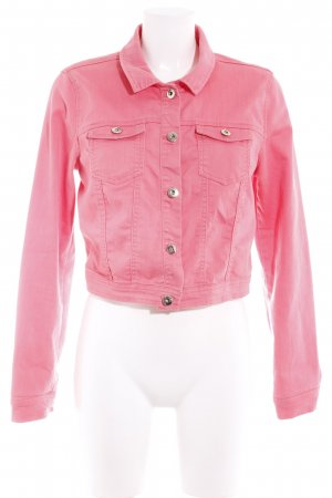 Vero Moda Jeansjacke rosa Casual-Look