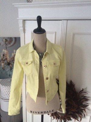 Vero Moda Jeansjacke Vienna Denim Jacket Gelb Gr. S 34 36