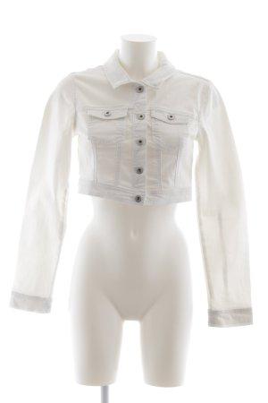 Vero Moda Jeansjacke weiß schlichter Stil