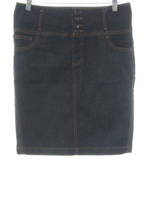 Vero Moda Jupe en jeans bleu foncé style décontracté