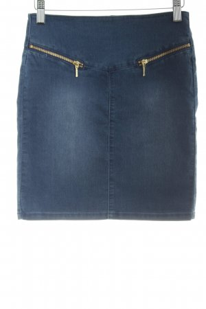 Vero Moda Jeansrock stahlblau Jeans-Optik