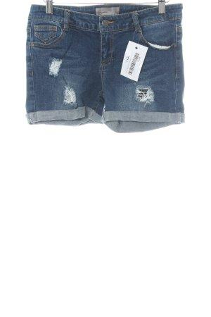 Vero Moda Jeansshorts blau Destroy-Optik