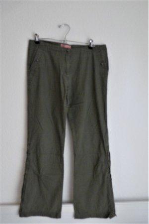 Vero Moda Jeanswear Hose Damenmode M 40 khaki grün Army Style Fashion Blogger