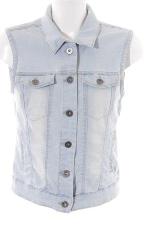 Vero Moda Gilet en jean bleu azur style décontracté