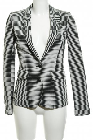 Vero Moda Jerseyblazer weiß-schwarz Streifenmuster