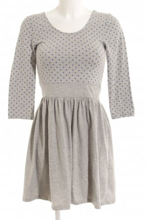 Vero Moda Jerseykleid hellgrau-stahlblau Punktemuster Casual-Look