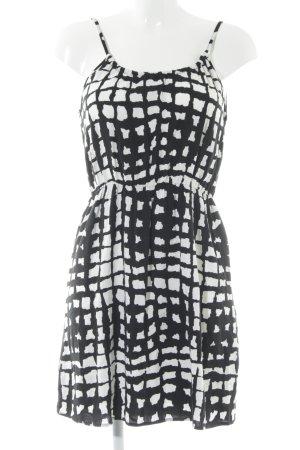Vero Moda Jerseykleid schwarz-weiß Farbtupfermuster Casual-Look