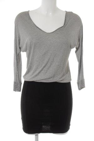 Vero Moda Jerseykleid schwarz-weiß Ringelmuster Casual-Look