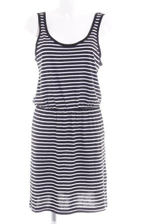 Vero Moda Jerseykleid schwarz-wollweiß Streifenmuster Casual-Look