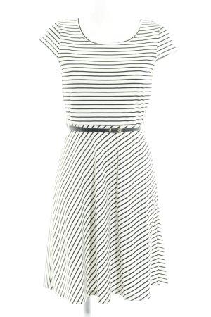 Vero Moda Jerseykleid wollweiß-dunkelblau Streifenmuster Elegant