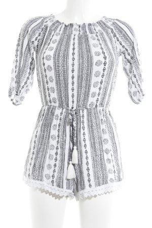 Vero Moda Combinaison noir-blanc motif abstrait style décontracté