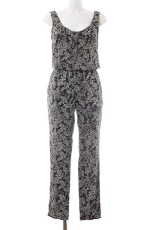 Vero Moda Jumpsuit schwarz-wollweiß Paisleymuster Casual-Look