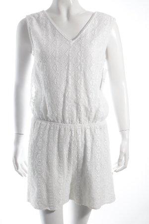 Vero Moda Jumpsuit weiß florales Muster Boho-Look